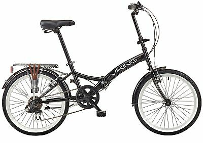 "Viking Metropolis 20"" Wheel 6 Speed Folding Bike Black"
