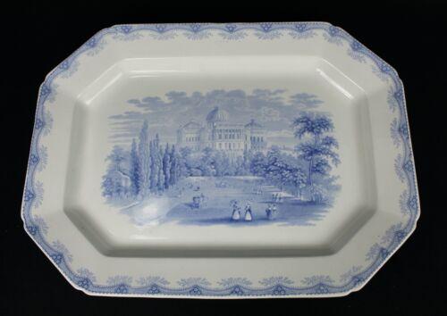 "Historical STAFFORDSHIRE Blue CAPITOL at WASHINGTON 19"" Large Platter c1800"
