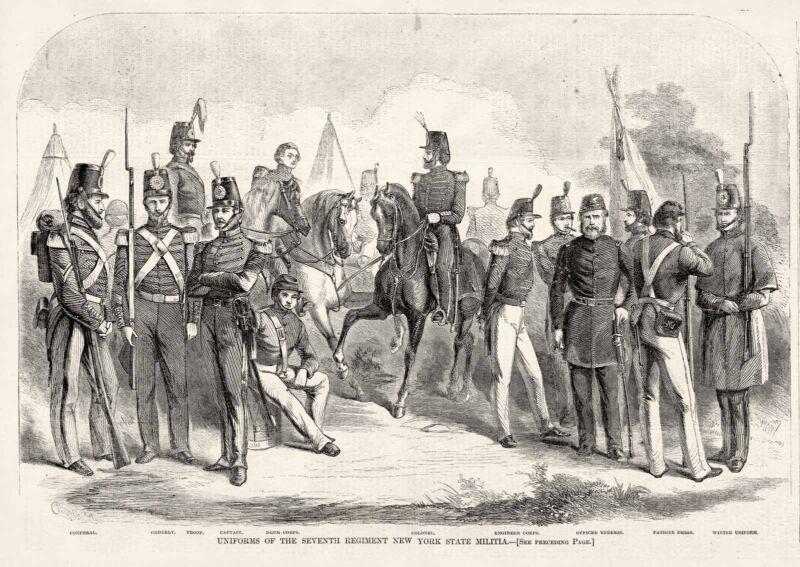 New York State Militia National Guard Seventh Regiment Uniforms 1860