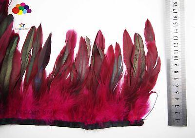 10 Meter Doppel Rot Hahn Shwanz Federn Formteile Karneval Diy Kostüm Kopfschmuck