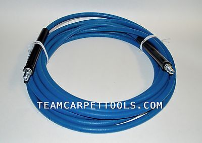 25 Ft. Carpet Cleaning 3000 Psi 275 Degree Blue Steel Braided Solution Hose