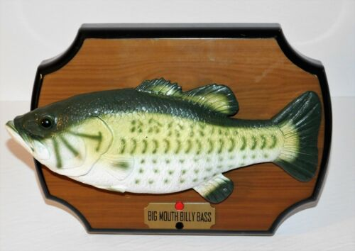 1999 GEMMY INDUSTRIES BIG MOUTH BILLY BASS ANIMATED SINGING FISH - WORKING!
