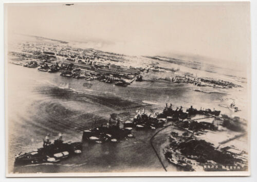 WW2 PEARL HARBOR JAPAN ATTACK US FLEET HAWAII ARIZONA WAR VINTAGE PHOTO