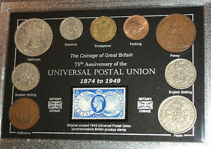 The-Universal-Postal-Union-75th-Anniversary-of-Coin-Stamp-Gift-Year-Set-1949