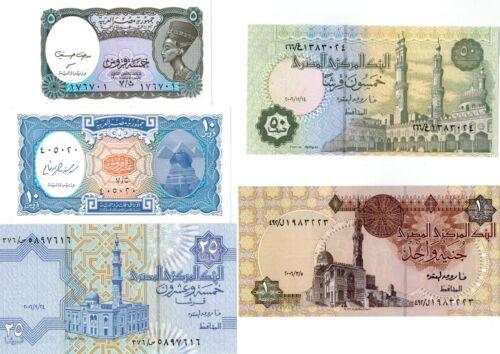 2006 Egypt 5 Paper Money Unc. Egyptian Notes Crisp