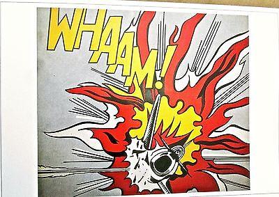 Roy Lichtenstein Poster  WHAAM 1963-Pop Art War Imagery 17x12  Unsigned AMD