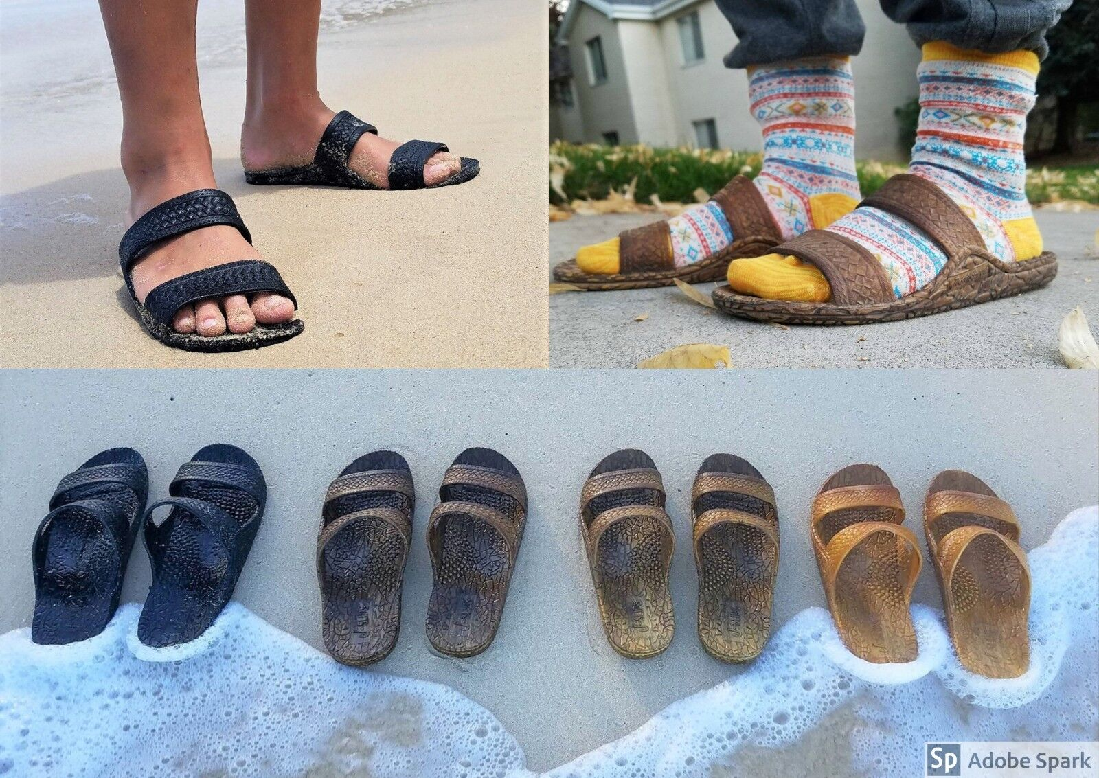 J-Slips Hawaiian Jesus Sandals in 6 Colors and 21 sizes! Tod