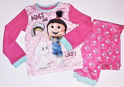 le Me Agnes pink pyjamas size 6 Years (Dispicable Me Girls)