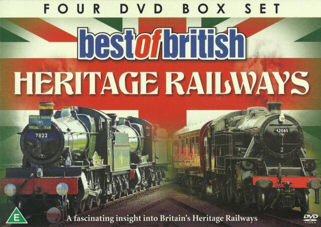 BEST OF BRITISH HERITAGE RAILWAYS - 4 DVD BOX SET - VOLUMES 1 - 4