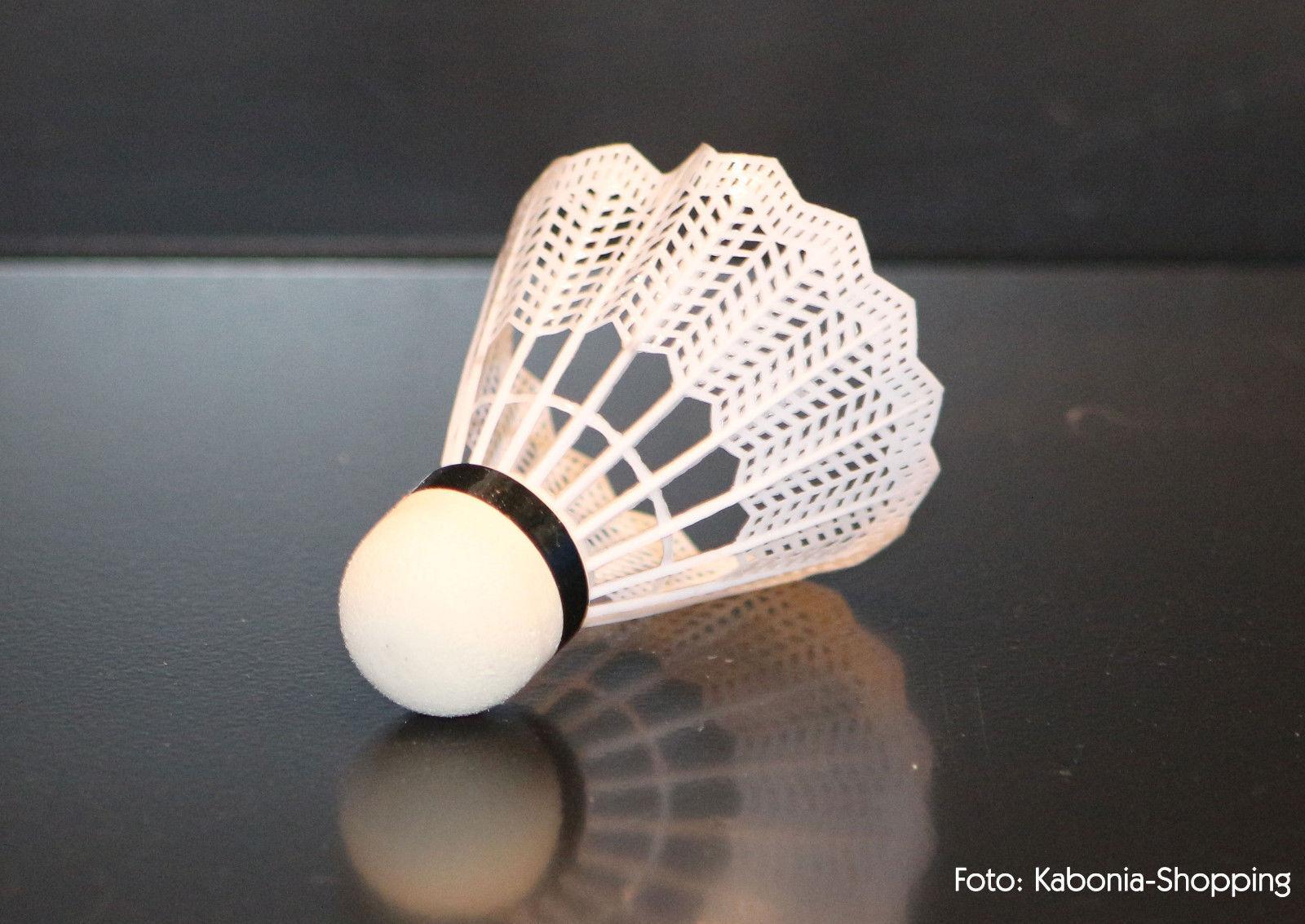 VICTOR 6 Stück Badmintonball Federball Nylonshuttle 1000 medium blau Bälle