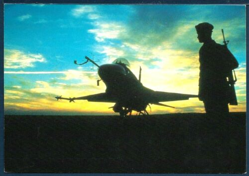 USAF F-16 Falcon at Sunset with Security Police