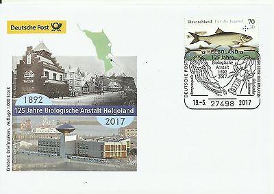 Sonderbeleg Deutsche Post AG - 125. J. Biologische Anstalt Helgoland 1892/2017