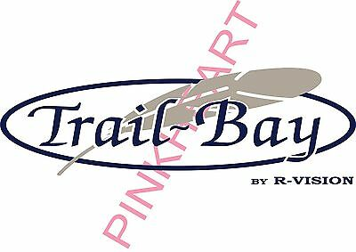 "4- Trail Bay 21.5"" Decal Rv by r VISION Sticker Decals camper trailer stickers"