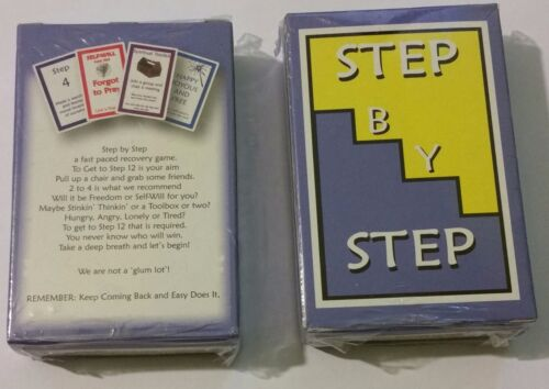 "Alcoholics Anonymous--CARD GAME- ""Step by Step""----Sobriety Gift"