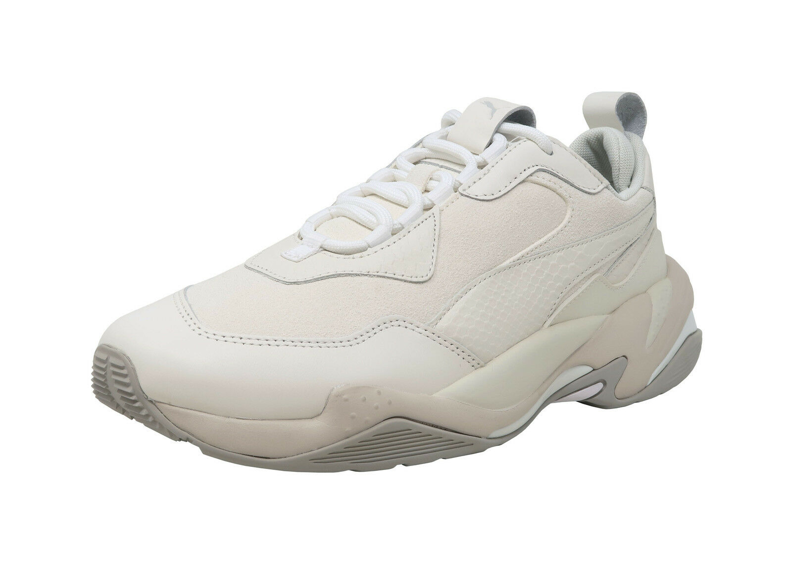 PUMA Thunder Desert White Suede Leather Lace Up Fashion Adult Men Shoes