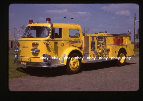 St Louis Park MN 1962 American La France pumper Fire Apparatus Slide