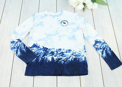 abercrombie Kids Girl's L/S Top Size 13/14 White / Blue