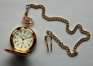 Men's Pocket Watch  with Gold tone 14