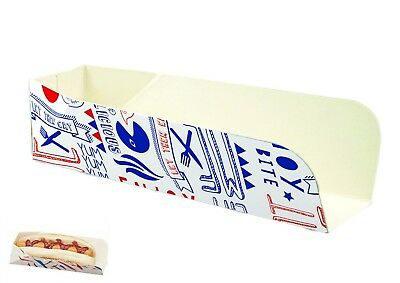 100 HOT DOG TRAYS BOXES PARTIES BBQS DISPOSABLE FAST FOOD CATERING PACKAGING ()