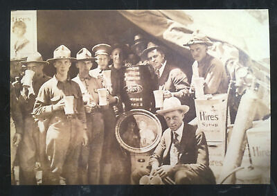 REAL PHOTO MEXICAN BORDER WAR HIRES ROOT BEER SYRUP ADVERTISING POSTCARD COPY - Mexican Real Photo