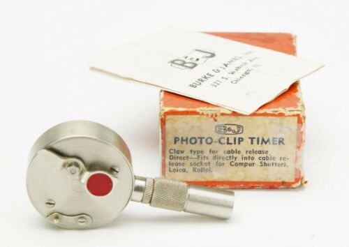 Vintage PhotoClip (Swiss) Mechanical Self Timer F/Smoother Shutter Release. EX.