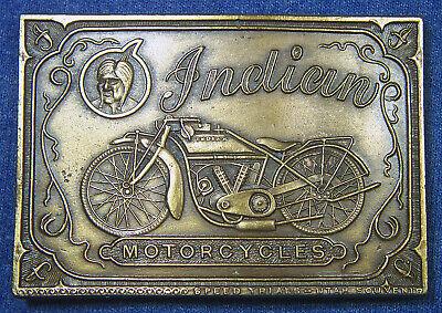 "New Vintage INDIAN MOTORCYCLES Belt Buckle - ""NAPOLEON EMPEREUR"" - Bergamot C-37"