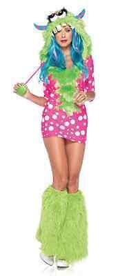 Magic Dragon Rave Monster Cosplay Costume Halloween Dress Ladies W Leg Warmers (Raver Kostüm Halloween)