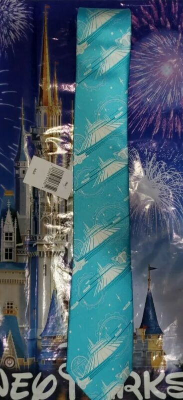 NEW Disney Parks Space Mountain Tomorrowland Magic Kingdom Mens Dress Tie NWT