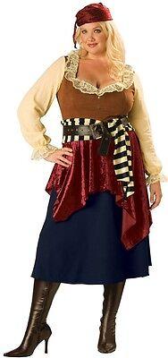 Damen Übergröße Sexy Pirat Halloween Party Kostüm Outfit UK - Übergröße Kostüm Piraten
