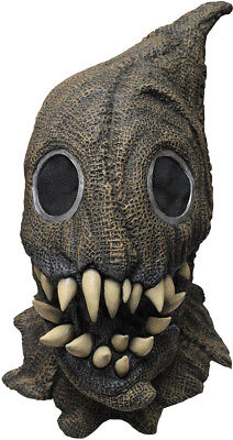 FANGED SACK MONSTER SCARY SCARECROW LATEX HALLOWEEN HORROR HEAD & NECK MASK ()