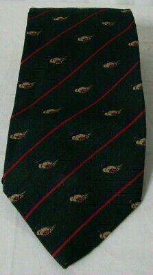 1960s – 70s Men's Ties | Skinny Ties, Slim Ties VTG 1960s BROOKS BROTHERS Green Wool Blend Tie Mallard Ducks Damage $6.99 AT vintagedancer.com