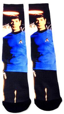 Star Trek Spock Character Sublimated All Over Print Premium Mens Crew Socks