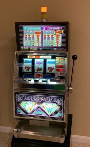 Original Casino Double Diamond Quarter Slot Machine Working Fully Functional