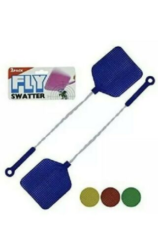 2- Fly Swatters with Wire Handles /Choose the color Red / yellow / green / blue