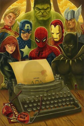 Nuff Said Tim Rogerson SIGNED Marvel Giclee on Canvas Ltd Ed of 119 Mighty Mini