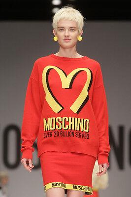 13713bcddb1 Moschino Jeremy Scott McDonald's Sweater 20B Served Pullover Fast Food M