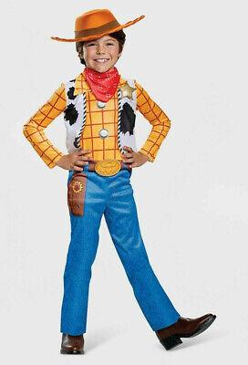 Kids Cowboy Halloween Costume (Woody Costume M 7-8 Boys Child Kids Toy Story Cowboy Sheriff Halloween)
