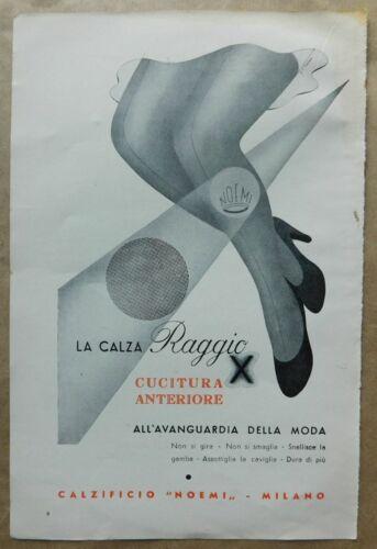 LA CALZA RAGGIO, vintage italian advertisng ad, 1937