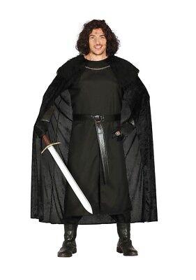 Adulto Hombre Medieval Protector Disfraz Jon Nieve Para Fiesta de Disfraces