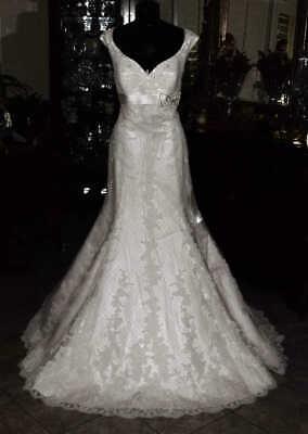 LA SPOSA Bridal Gown Wedding Dress Size 14  Ivory Lace   REF 4744322