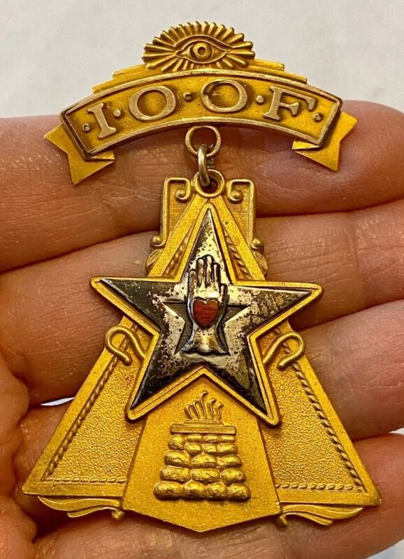 IOOF Encampment Pin HIGHEST BRANCH of INDEPENDENT ORDER of ODD FELLOWS 1/20 10K