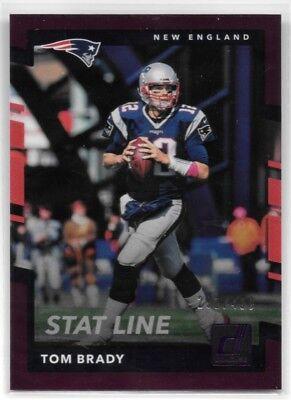 Tom Brady Patriots 2017 Donruss Stat Line Purple  400