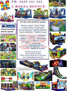 A Bonza Bounce Bouncy Castle Hire Perth Byford Serpentine Area Preview