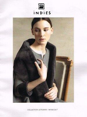 F- publicité advertising 2017 les manteaux de fourrure yves salomon