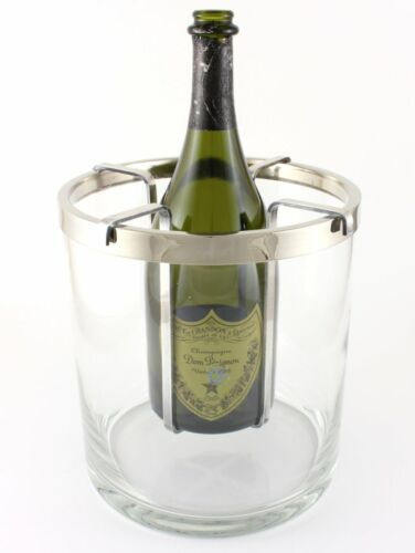 Saint Hilaire France Silver Plate & Glass Champagne Wine Cooler.Vodka Ice Bucket