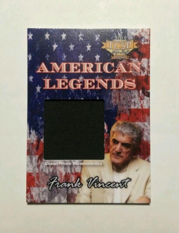 2015 TCSP Frank Vincent (Sopranos, Goodfellas) Authentic Worn Memorabilia Card
