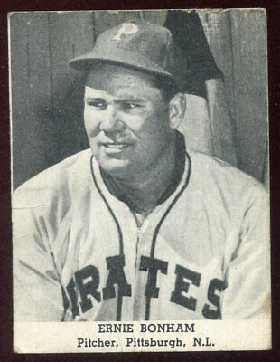 1947 Tip Top Bread ERNIE BONHAM Pirates BASEBALL CARD Scarce, VERY Tough Set!