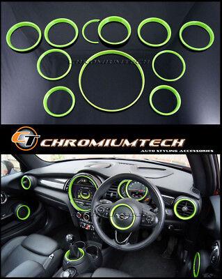 MK3 MINI F55 F56 F57 GREEN Interior Rings Trim Kit for models W/O Navigation XL