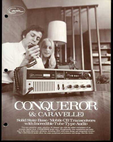 Vintage COURIER CONQUEROR Citizen Band Radio CB Advertising Sales Spec Sheet