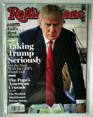 President Donald Trump Signed 2015 Rolling Stones Magazine